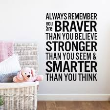 diy wall decor quotes sticker home quotes always brave decals pvc