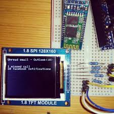 tft display with arduino nano connected android phone iot