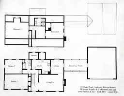 32 clark road andover historic preservation floor plan of the leno home 2001