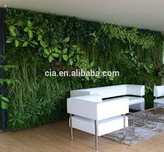 affordable artificial vertical garden wall system plastic green