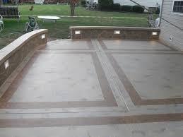 Outdoor Concrete Patio Designs Colored Concrete Patio Pictures Garden Treasure Patio How To Do