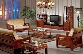 Perfect Wood Furniture Design Sofa Set Simple Living Room With - Wooden furniture for living room designs