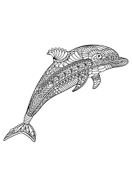 dolphin coloring pages pdf animal coloring pages pdf adult coloring coloring books and pdf