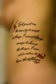 25 graceful serenity prayer tattoos serenity tattoo and
