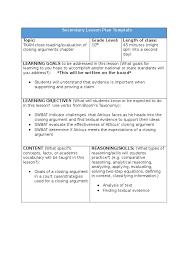 tkam closing argument lesson plan lesson plan evaluation