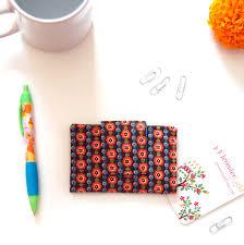 Card Holder Business Floral Business Card Holder Fabric Business Card Holder Business