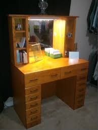 makeup vanity set with lights for exciting bedroom furniture decor