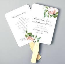 wedding fan program template free template diy wedding fan program template free printable summer