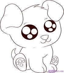 draw anime cartoon puppy step step anime animals