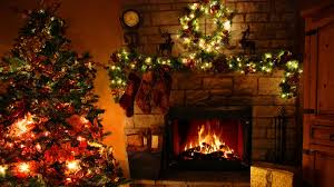 christmas by the fireplace interior design ideas classy simple