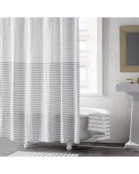 Silver Shower Curtains Holiday Special Dkny Parsons Stripe Shower Curtain In Silver