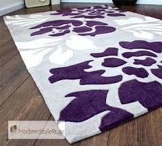 Modern Purple Rugs Plum And Grey Rug Tapinfluence Co