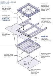 Whole House Ventilation Unit Air Sealing Whole House Fans Building America Solution Center