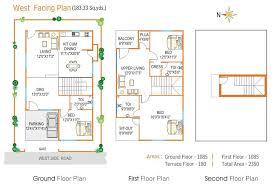 West Facing House Vastu Floor Plans Duplex House Plans For West Facing As Per Vastu