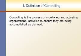 controlling definition 1 1 chapter iv controlling objectives i definition of controlling