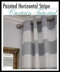 Painting Fabric Curtains Diy Painted Striped Orange And White Curtains Yes I Am Redoing My