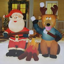 Lighted Santa And Reindeer Outdoor by Santa Claus Outdoor Inflatables Page Two Christmas Wikii