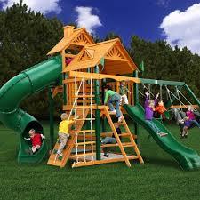 Backyard Playground Slides August 2012