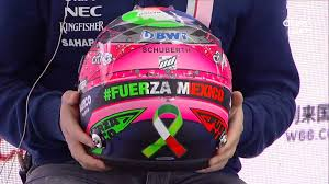 sergio perez helmet for the mexico gp paying respect for the