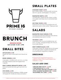 menu for brunch prime 16 orange brunch menu prime16