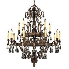 15 Light Chandelier Shop Shandy 43 In 15 Light Moroccan Bronze Clear Glass Candle