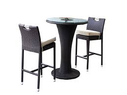Patio Bar Table Set Lovely All Weather Outdoor Wicker Bar Stool Black Teak Wood Stool