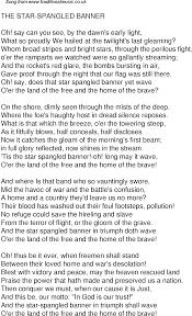Star Light Star Bright Lyrics Old Time Song Lyrics For 59 The Star Spangled Banner