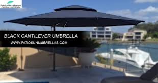 Best Cantilever Patio Umbrella Is It Better To A Black Coloured Umbrellas For The Lightwaves
