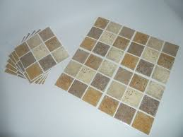 mosaic tile transfers stickers brown beige stone effect quickly