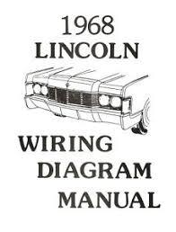 lincoln 1968 continental wiring diagram manual 68 ebay