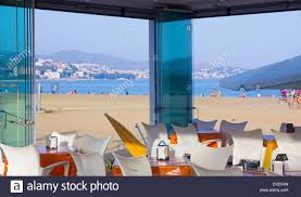 Colorful Furniture by Colorful Furniture In A Modern Beach Bar Stock Photo Royalty Free