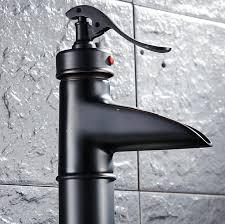 black finish bathroom faucets tall basin faucet black sink mixer