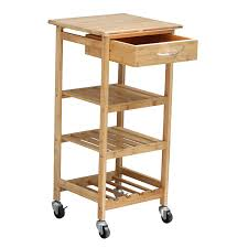 amazon com oceanstar design group bamboo kitchen trolley kitchen