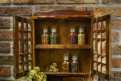 Antique Spice Rack Vintage Spice Cabinet Royalty Free Stock Image Image 20037256
