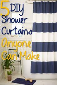 Bathroom Shower Curtain Ideas Diy Creative Diy Bathroom Curtain Ideas Decorations Ideas