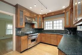 mission style kitchen cabinets of kitchens traditional
