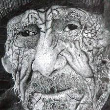 portrait of old people by bfa finearts students