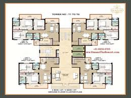 1 bhk floor plan floor layout plans omaxe the resort mullanpur new chandigarh