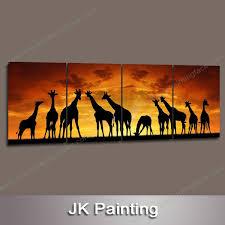 decorative artwork for homes 4 panel realistic 12x12 canvas art deer print large decorative