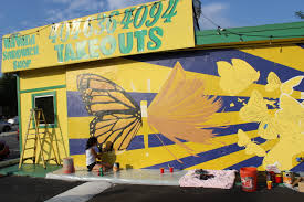 monarch mural on buford highway a symbol for all immigrants says the monarch butterfly mural on the side of the havana sandwich shop on buford highway is part of the buhi walk a collaboration between we love buhi and