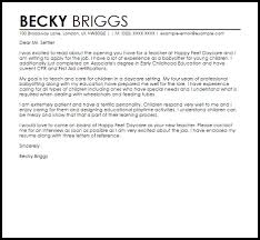 cover letter for early childhood educator cover letter for daycare