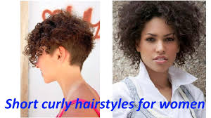 short curly hairstyles for women youtube