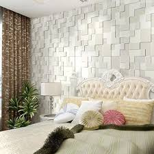 10m modern simple 3d mosaic living room non woven wallpaper home