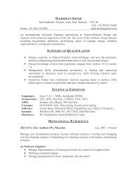 embedded software engineer resume objective elegant resume
