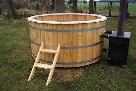 Wood Fired Bathtub Wood Burning Tub 2 Meter Siberian Larch External Heater