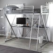 duro z bunk bed loft with desk silver hayneedle