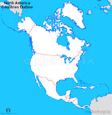 blank continent map america countries outline map countries outline map of