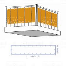 balcony shield 80cm x 5m off white shade net shade net stripes