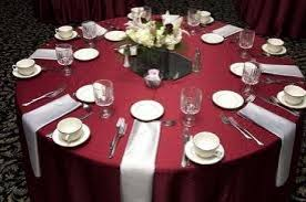wedding table settings burgundy wedding maroon silver wedding table setting 2061253