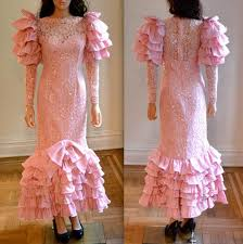 eighties prom dress vintage 80s prom dress pink lace with sequins pageant dress pink